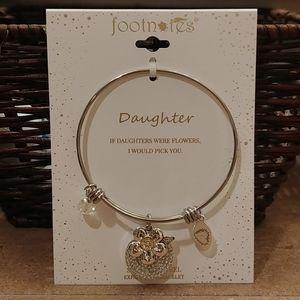 FOR DAUGHTER! Silver bangle charm bracelet!